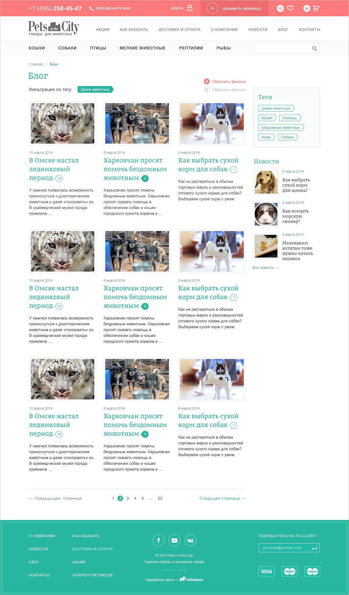 <p><b>Блог компании</b></p> <p>Проектируем страницу блога, компания планирует делать активныйPR.</p>